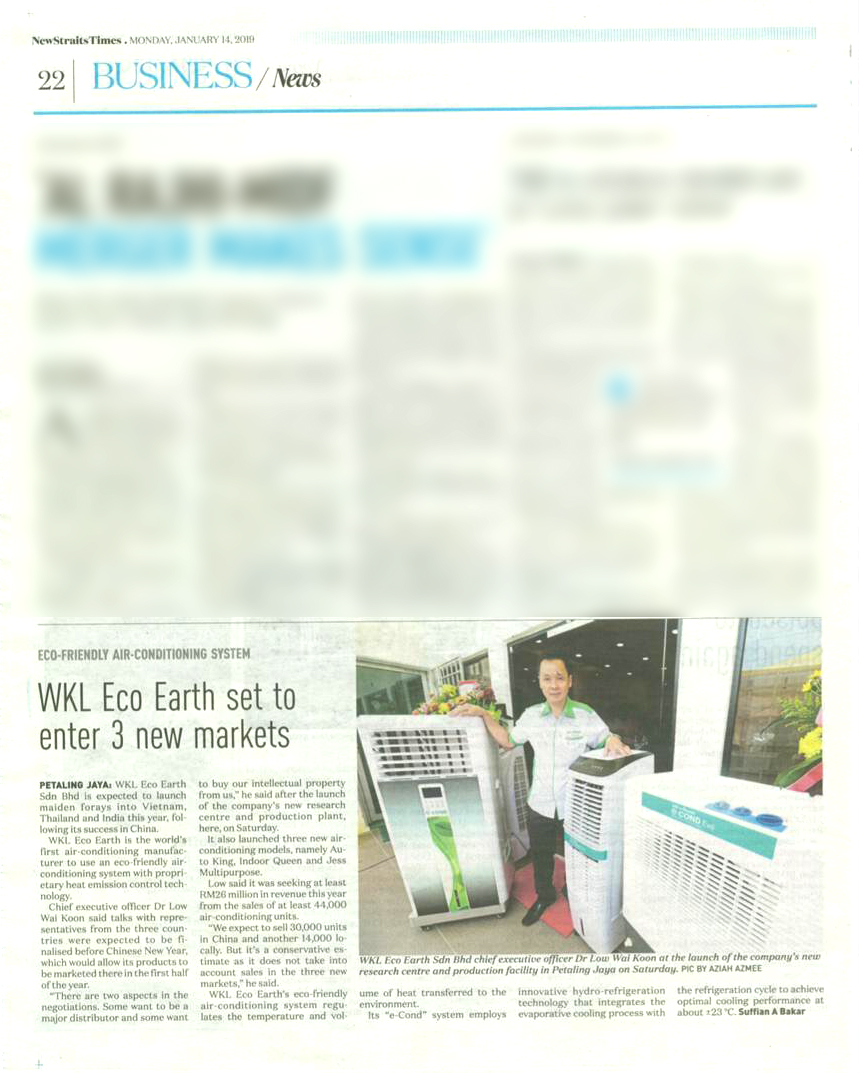 WKL Eco Earth Set to Enter 3 New Markets